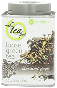 The TeaSpot Green Roasted Mint, Green Loose Leaf Tea With Mint, 2.0-Ounce Tins (Pack of 2)