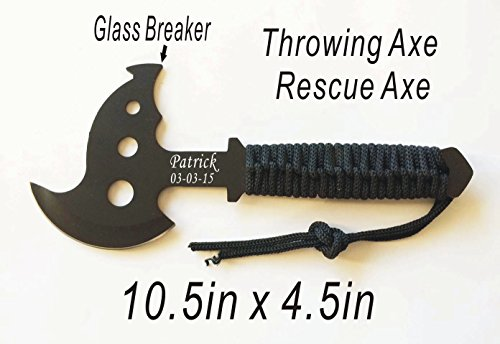 Groomsmen Gift- Personalized Engraved Rescue Axe, Hatchet, Camping Gift, Sportsman Gift, Knife
