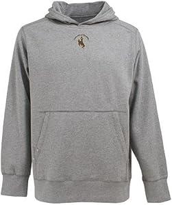 Wyoming Signature Hooded Sweatshirt (Grey) by Antigua