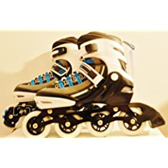 Motion Partner Inline Skate Mp129 Blue Size L 7.5 - Extent Able to Size 9 by Min Sports and Electronic Inc