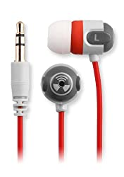 Earpollution EP-ORI-RED Origin Earbuds, Red/Gray