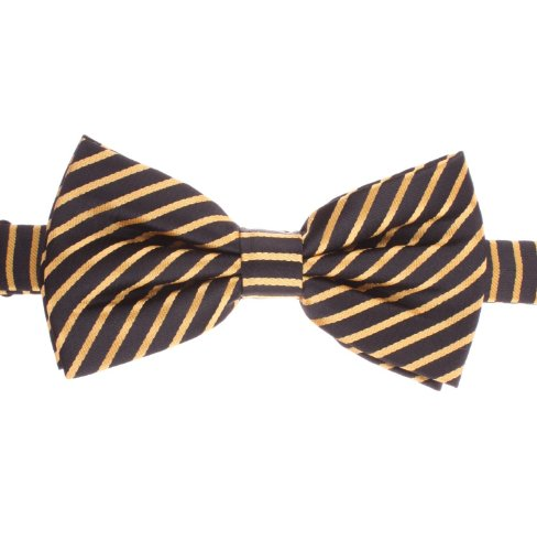 Thin Striped Canaray Yellow And Jet Black Bumble Bee Bowties - By Jon Vandyk