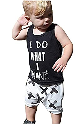 2pcs Newborn Baby Boys Black T-shirt Tops+White Cross Print Pants Outfits Set