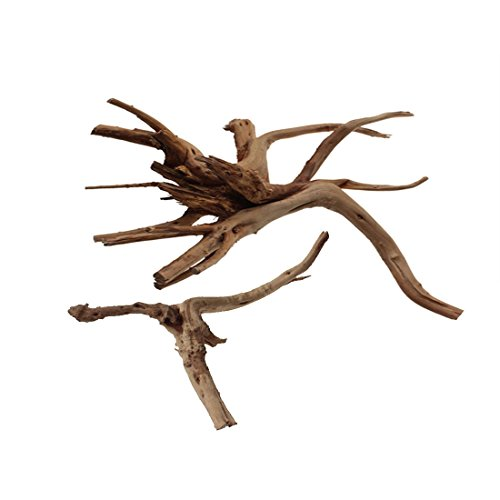 Emours-Aquarium-Driftwood-Tropical-Fish-Plant-Habitat-Decor-Varies-Size-Small-Large2-pcs-Pack
