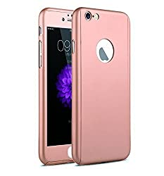 THERISE FBC0222 360 Full body Cover for Apple iPhone SE-Rose Pink