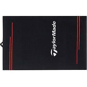 TaylorMade Terry Printed Cart Towel, Black