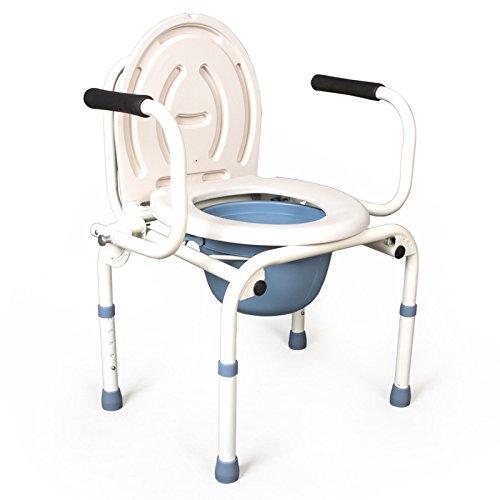 Comodino comò in acciaio inox pieghevole wc sedile può essere più spessa vasca 3-in-1 pieghevole acciaio WC sedia