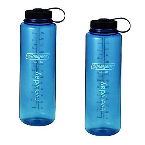 Nalgene Silo 48Oz Tritan Wide Mouth Bottle - 2 Pack (Blue) front-428527
