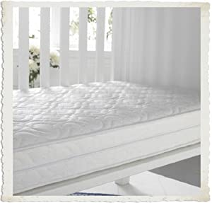 Sprung Cot Bed Mattress (Superior Quality) - Bound (seamed edges) best for fitted sheets - 139/140 cm x 69/70 cm