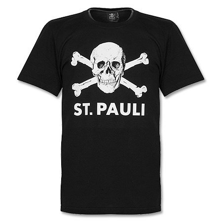 ST. Pauli-Maglietta con teschio I nero M