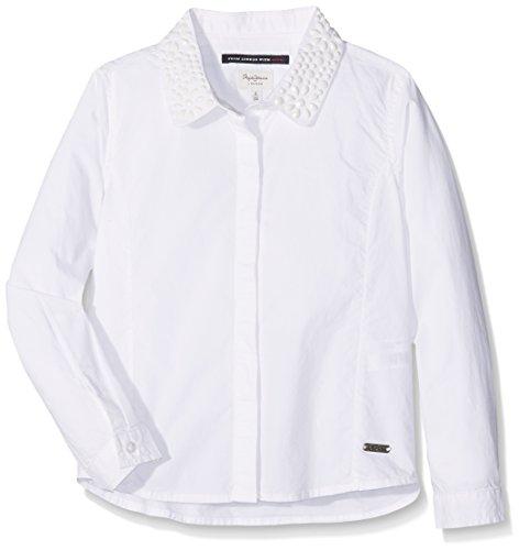Pepe Jeans Trinity Jr, Camicia Bambina, Bianco (White), 12 Anni (Taglia Produttore: 12 Ans )