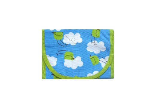 Resnackit Reusable Sandwich and Snack Bag, Blue/Green