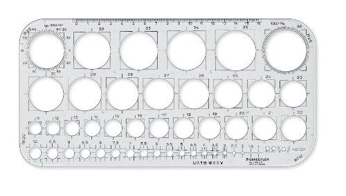 Tiradísimo Plantilla de círculos Staedtler 576 01 F