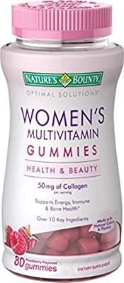 Natures Bounty Optimal Solutions Womens Multivitamin Gummies, 80 Count