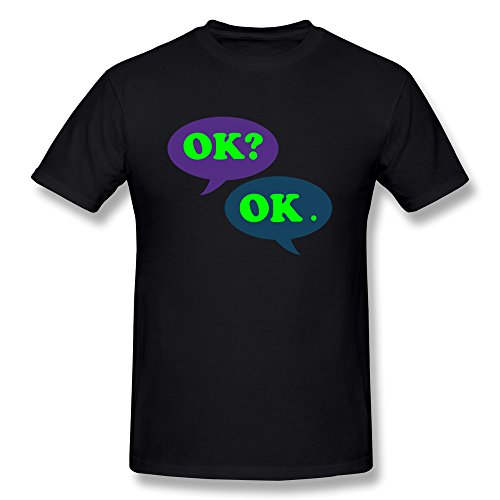 Yesher Men's Funny Okay Okay The Fault In Our Stars Tshirt For Men - Black Size S (Jack Reacher Prime Movie compare prices)