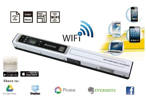 New Version Wifi Portable Handheld Colour Scanner 900 DPI With OCR Software Black Friday & Cyber Monday 2014