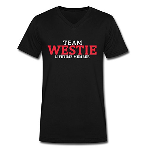 Disguiser Team Westie Lifetime Member Novelty Men's Short Sleeves Black Cotton T-Shirts XL