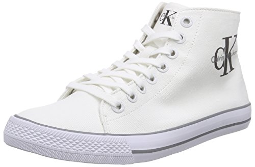 Calvin Klein JeansOzzy Canvas - Scarpe da Ginnastica Basse Uomo , Bianco (Bianco (Wht)), 43