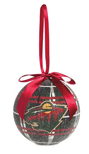 100Mm Led Ball Ornament, Minnesota Wild
