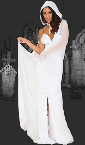3WISHES 'Sexy Spirit Costume' Sexy Ghost Halloween Costumes for Women