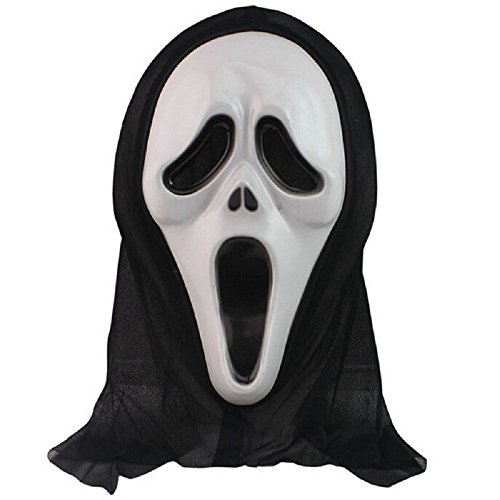 Black Ghost Scream Face Mask Costume Party Halloween