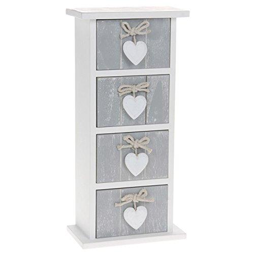 Hochwertige-Kommode-Grau-Shabby-Chic-Stil-4-Schubladen-In-Geschenkbox