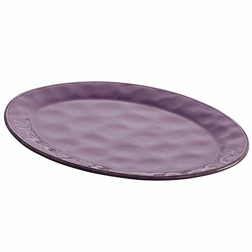 "Cucina Dinnerware 10 "" x 14 "" Stoneware Oval Platter in Lavender Purple"