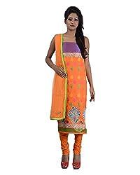 Mumtaz Sons Women's Cotton Unstitched Dress Material (MS111411C,Orange)