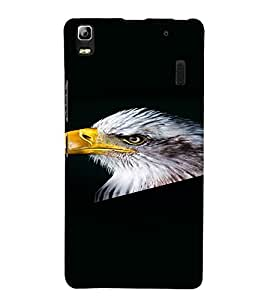 PrintVisa Eagle Bird Design 3D Hard Polycarbonate Designer Back Case Cover for Lenovo A7000