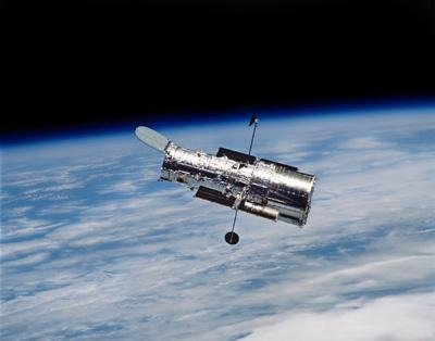 Photography Wall Decals Hubble Space Telescope In Orbit Around Earth - 18 Inches X 14 Inches - Peel And Stick Removable Graphic