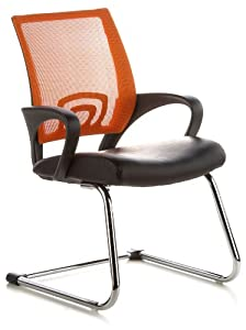 Buerostuhl24 650420 Visto Net Conference/Cantilever Chair Black / Orange       reviews and more information