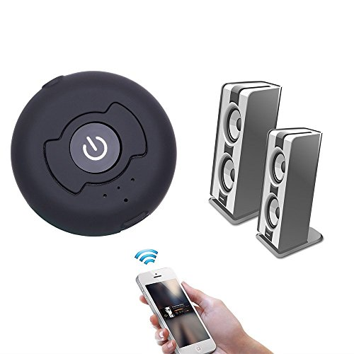 ovtel bluetooth wireless 4 0 music transmitter support two bluetooth headphones or speakers. Black Bedroom Furniture Sets. Home Design Ideas