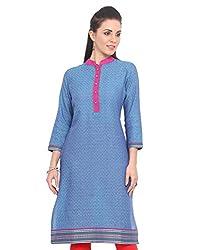 Adyana Women's Kurti (AD071_Blue_Medium)
