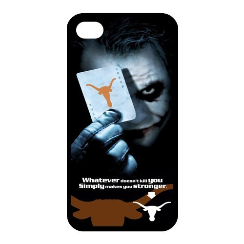 NCAA Texas Longhorn With Joker Poker Slim Fit Iphone 4 4S TPU Silicone Back Case Cover At customcasestore at Amazon.com