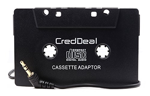Creddeal Car Audio Cassette Adapter For Iphone/Ipod/ Android Phones/Mp3 Players And Cd Players