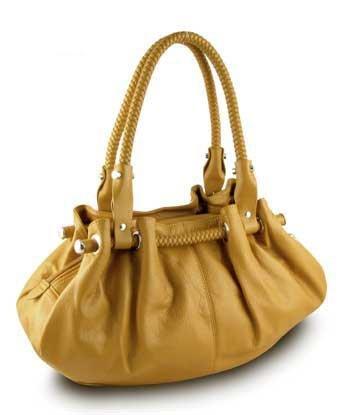 Braided Satchel Hobo Handbag (Yellow)