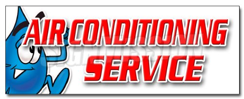 """48"""" AIR CONDITIONING SERVICE DECAL sticker ac cooling technician air cold maintenance"""