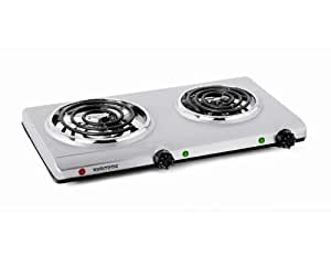 Amazon com toastess thp 528 electric double coil cooking range