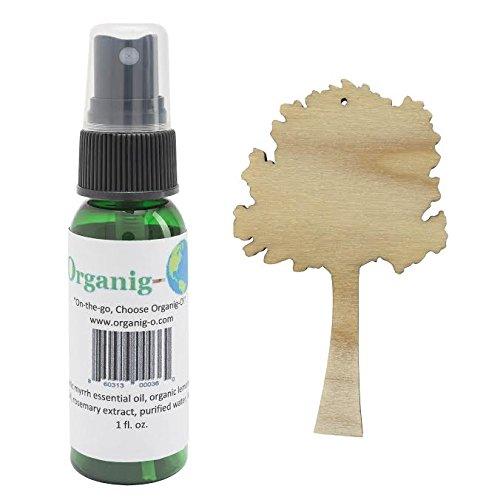 Organic Citrus Air Freshener/Diffuser - Solid Wood Tree + 1 oz. Spray Set! (Car Air Freshener Organic compare prices)