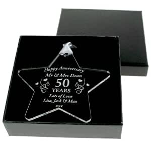 personalised gift ideas stern zum geburtstag acryl 50. Black Bedroom Furniture Sets. Home Design Ideas