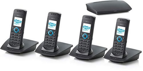 Dualphone 3088 Cordless Skype Phone Quad Set picture