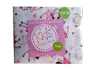 Kids Collection Fairy Princess Twin Sheet Set
