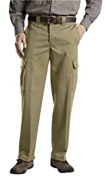 WP592 Dickies Relaxed Straight Fit Cargo Work Pant-CRAMERTON KHAKI-34x32