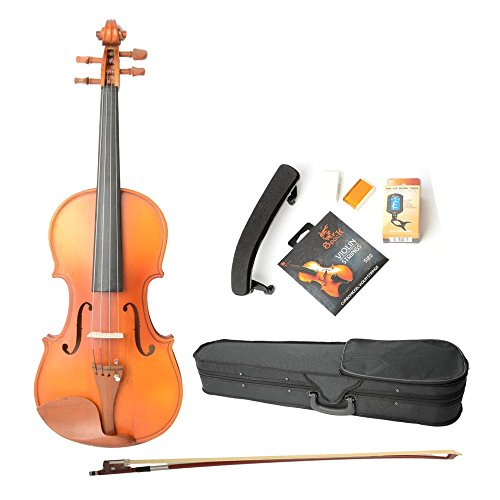 Astonvilla Av05 4/4 Matte Acoustic Spruce Wood Violin With Electronic Tuner And Accessories For Adults