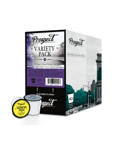 Prospect Tea Variety Pack Single Cup Tea for Keurig Brewers, 40 Count (Taxi Chai Keurig compare prices)
