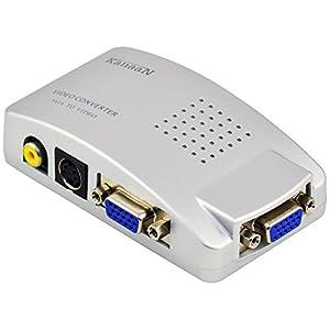 KanaaN PC VGA zu TV Composite Video RGB Konverter mit SCART-Adapter und Cinch Kabel