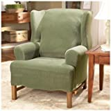 Sure Fit  35764 Stretch Pearson Wingback Chair Slipcover