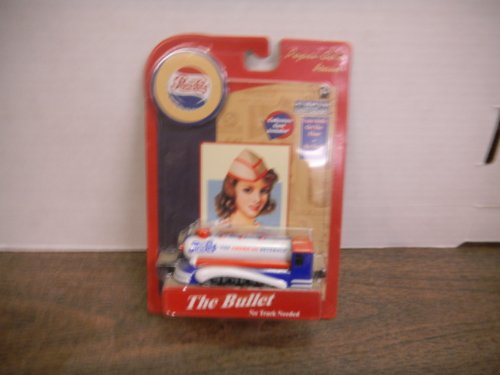 "Pepsi Cola Train Die Cast Metal ""The Bullet"" Collectors Card Included - 1"