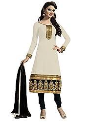 Kaizen Export CreamWhite Designer Salwar Suit (KEfm107)