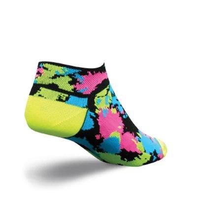 SockGuy Women's 1in Splatter Cycling/Running Socks